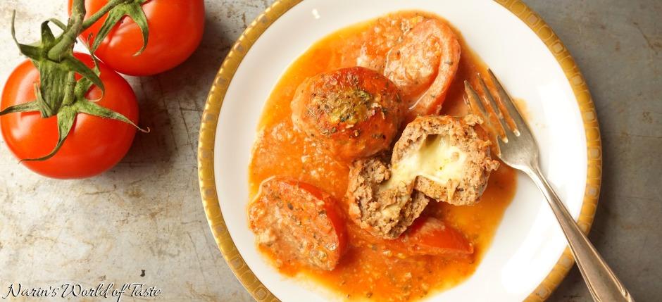 Filled Meatballs in Tomato Gravy