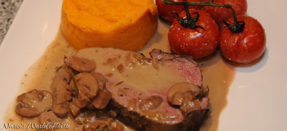Fillet of Beef on Mushroom Sauce