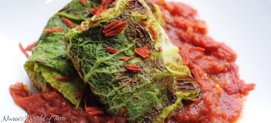Mediterranean Savoy Cabbage Rolls
