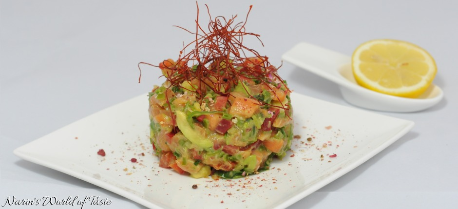 Crunchy Asian Salmon Tartare