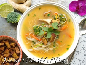 Soba & Vegetable Soup with Red Curry Paste