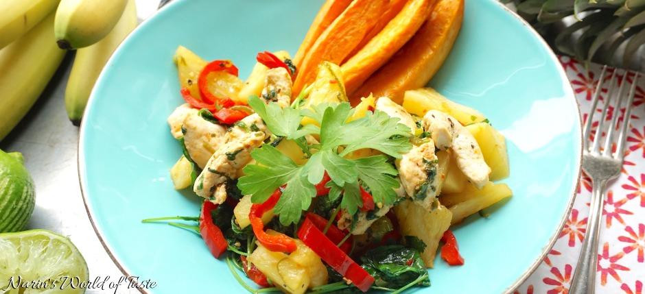 Brazilian Pineapple & Chicken Stir Fry