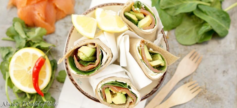 Salmon, Avocado, & Spinach Wrap