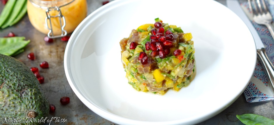 Fruity and Spicy Tuna Tartare