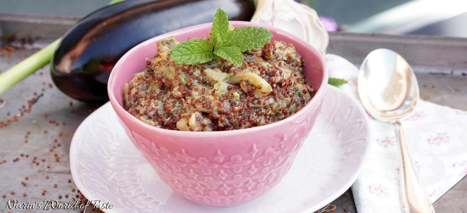Eggplant Mint Quinoa