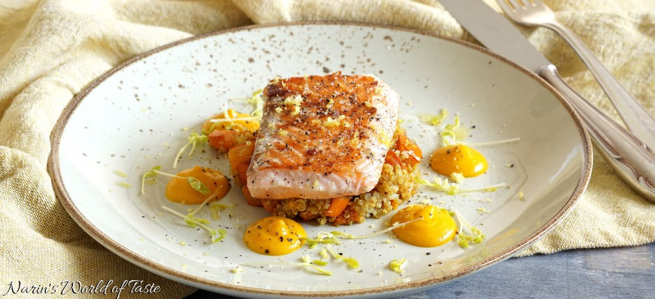 Sous Vide Lemon Salmon with Duo of Hokkaido
