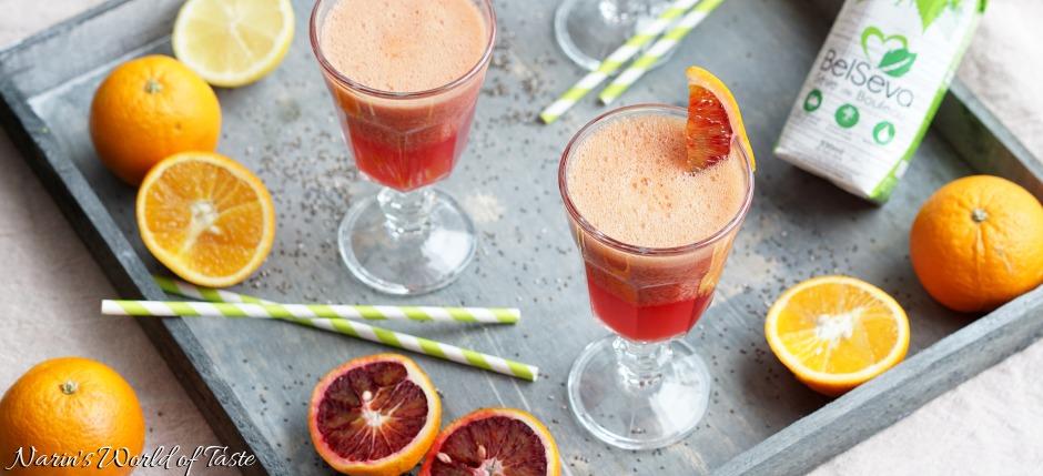 Birch Water and Blood Orange Shake