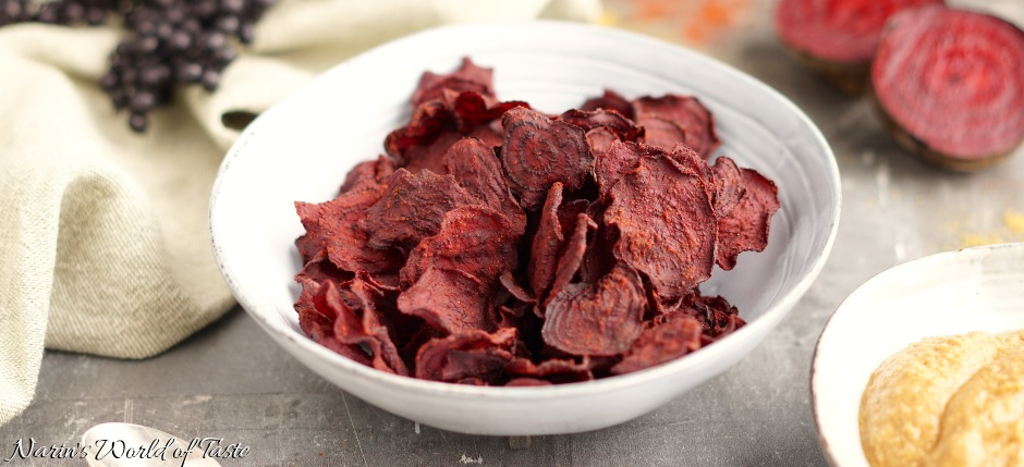 Homemade Spicy Beet Chips